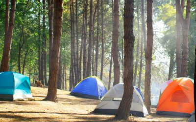 Boze bui op de camping