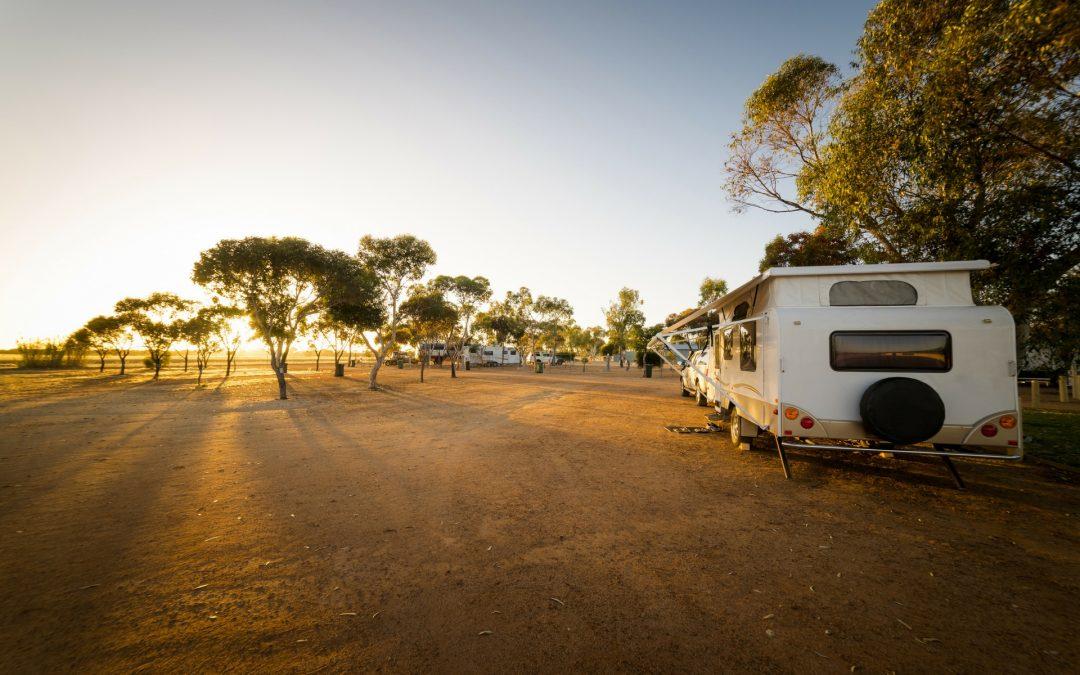 Boze bui 's morgens op de camping
